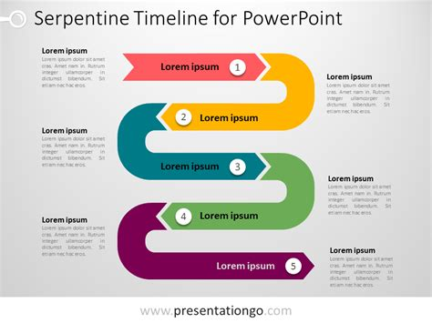 Powerpoint Serpentine Timeline Presentationgo Com Timeline Powerpoint Template Free