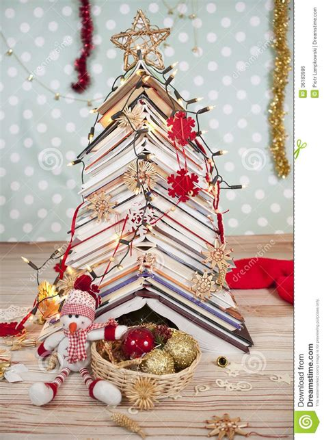 christmas tree of books stock photo image of books gift
