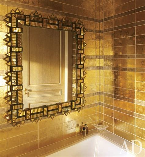 gold bathroom tile gold tile bathrooms pinterest