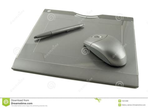 Mouse Pen Tablet wireless graphics tablet with stylus and mouse stock photo image 1551298