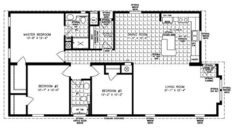 the imperial imp 46019b manufactured home floor plan 1365 sq ft manufactured home floor plan