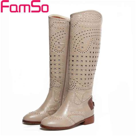 famso 2017 summer boots cut outs designer knee high