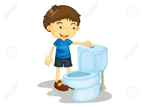 kids can clean the bathrooms child clipart flushing toilet pencil and in color child