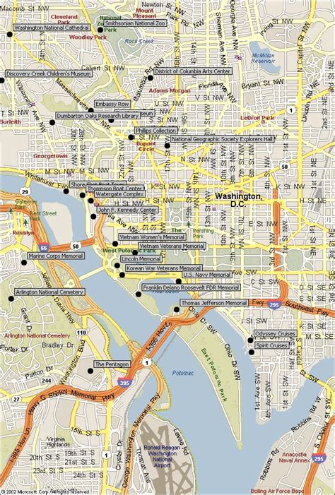 washington dc map landmarks washington d c attractions map our attractions map