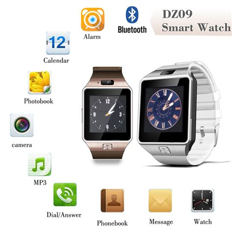 Tangan Pertama Smart Phone Dz09 dz09 smartwatch watchphone gsm for android black