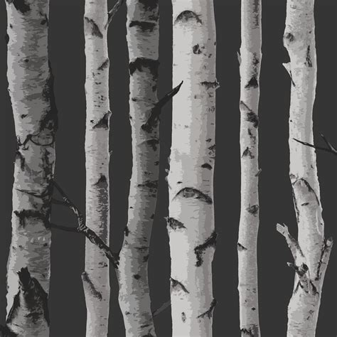 grey wallpaper with trees fine decor birch trees 10m forest wallpaper cream