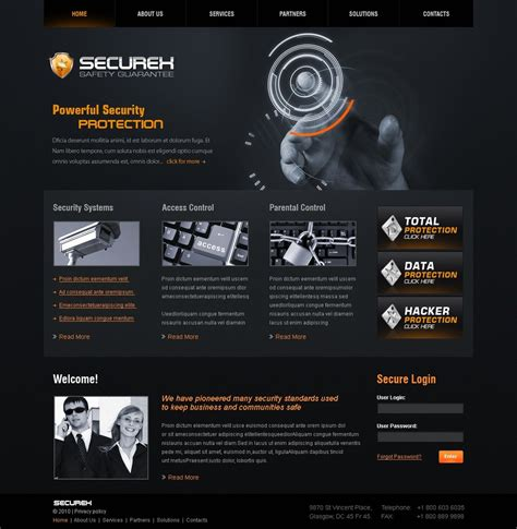 security website template 28047