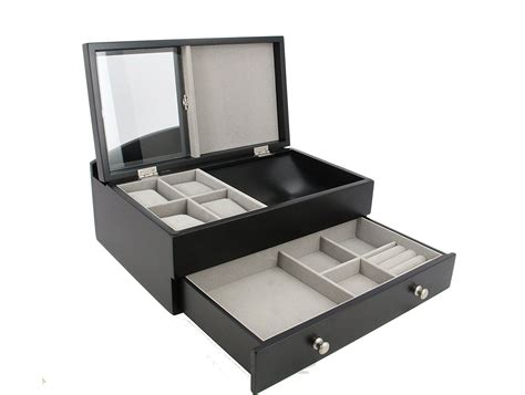 black jewelry box armoire the 15 best men s jewelry boxes zen merchandiser