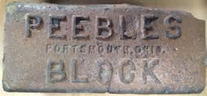 peebles block portsmouth ohio bricks of ohio blog b o b
