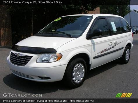 2003 Chrysler Voyager Lx by White 2003 Chrysler Voyager Lx Gray Interior