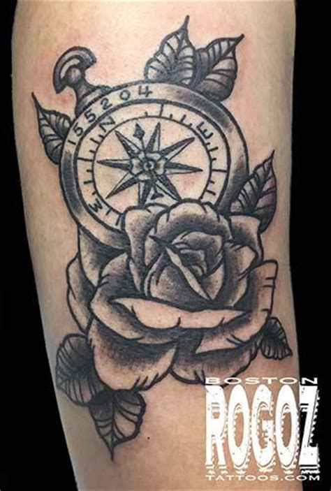tattoo compass and rose rose and compass tattoo by boston rogoz tattoo