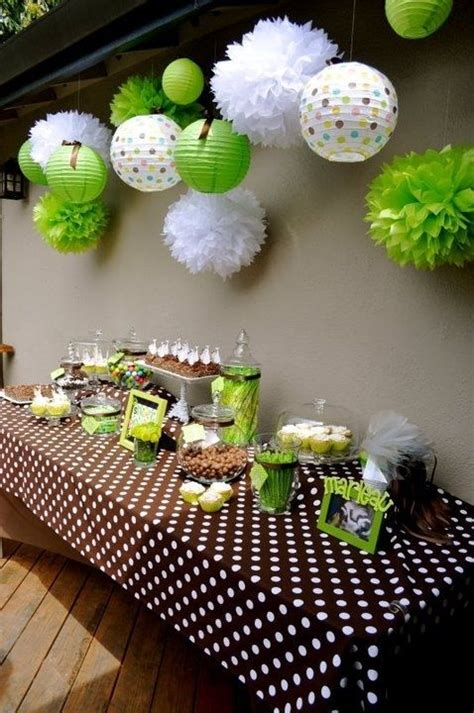 brown and green baby shower decorations 25 best ideas about green baby showers on