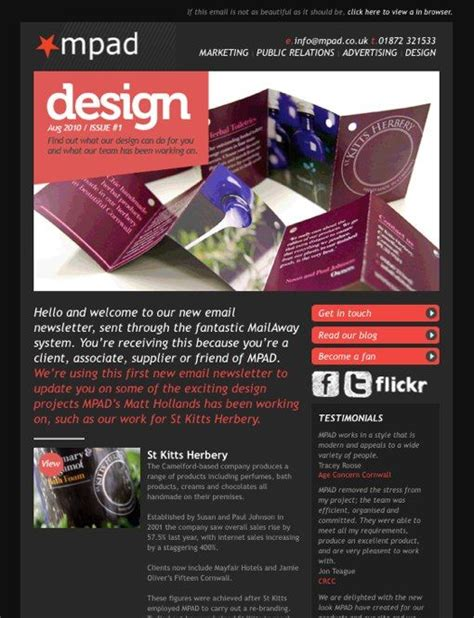 newsletter layout inspiration newsletter layout intro quot director s letter quot on left under