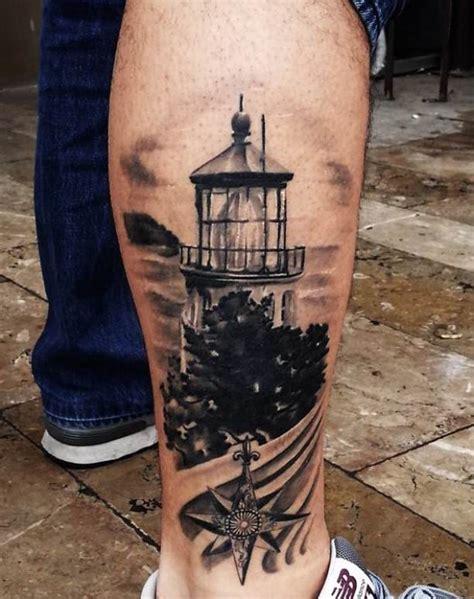 storm 3d tattoo designs 3d lighthouse on calf tattooed tattoos