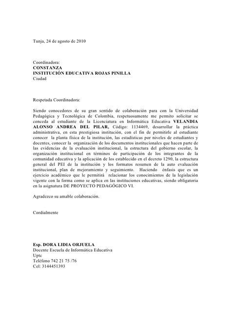 carta de presentacion familiar para colegios carta presentaci 243 n colegio 1