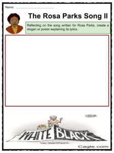 rosa parks biography for students rosa parks worksheets worksheets for school roostanama