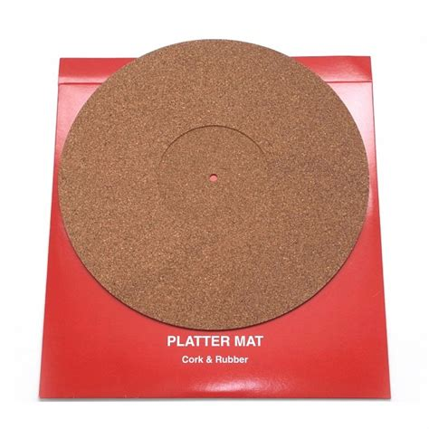 Platter Mat by Thorens Cork Rubber Platter Mat