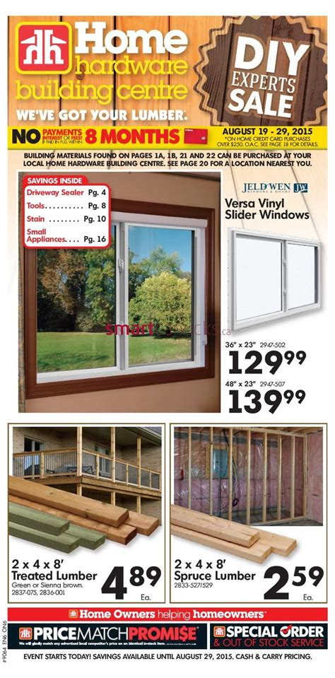 home hardware home hardware building centre on flyer august 19 to 29