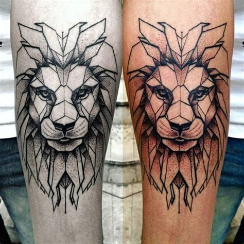 geometric lion tattoo 25 best ideas about sleeves on
