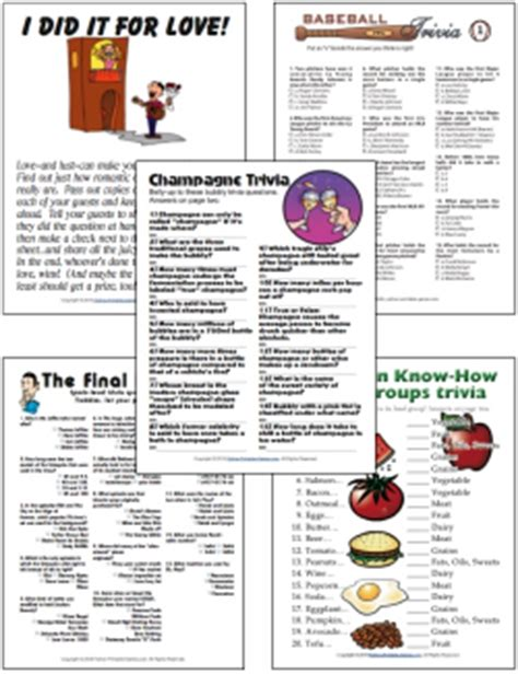 party games free printable games and activities for