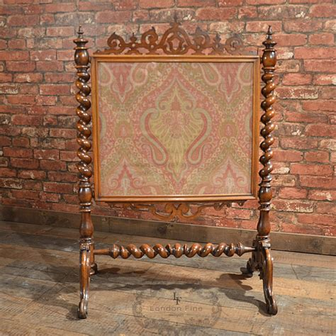 antique fireplace screens sale antique screen mahogany needlepoint textile