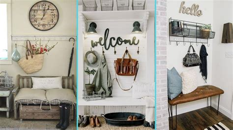 diy rustic shabby chic style mudroom decor ideas home