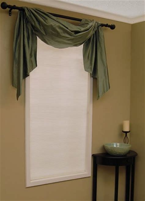 Swag Curtain Valance Over Wood Blinds Swag Curtains Pinterest Swag Curtains Curtain » Home Design 2017