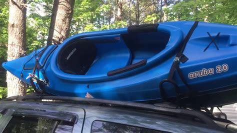 How To Attach Kayak To Roof Rack by How To Secure A Kayak On Car Or Suv Using J Bar Roof Rack