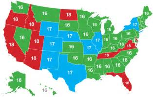 age map of america sexual age of consent in usa depending on state and europe