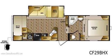 crossroads cruiser fifth wheel floor plans 2013 crossroads cruiser 29bhx fifth wheel riceville ia gansen auto rv sales riceville iowa