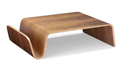 walnut bentwood modern artistic coffee table