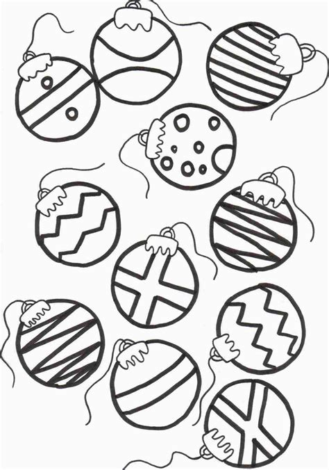 free printable christmas decorations to colour quot christmas ornaments quot coloring pages holidays and