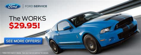 ford coupons for change car service and coupons gary yeomans ford