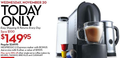Hudson S Bay Canada Offers - hudson s bay canada deals get nespresso u espresso maker