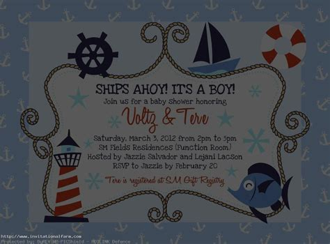 printable nautical invitation template nautical birthday invitations templates