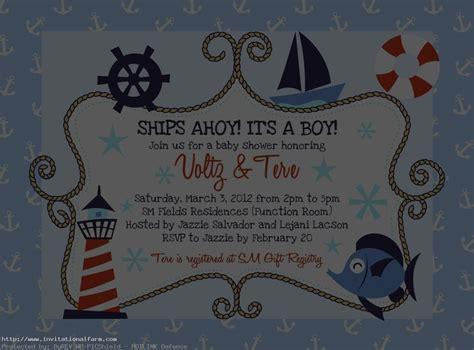 Nautical Birthday Invitations Templates
