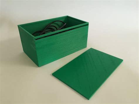 Printed Storage Box 3d printed storage box with sliding lid by enterprisexd