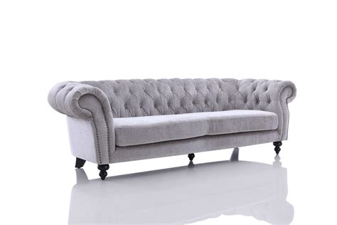 Grey Tufted Sectional Sofa Divani Casa Alexandrina Grey Tufted Fabric Sofa Set Sofas Living Room