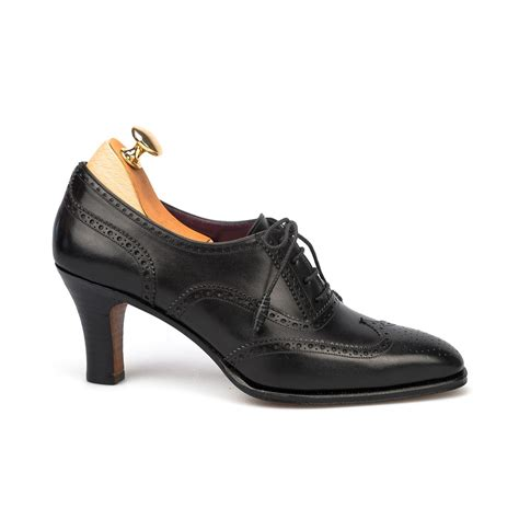oxford shoes heels high heel oxford shoes in black leather