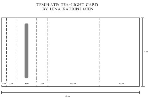 Card Template With Lights by Lena Katrine S Scrappeskreppe Template Tea Light Card
