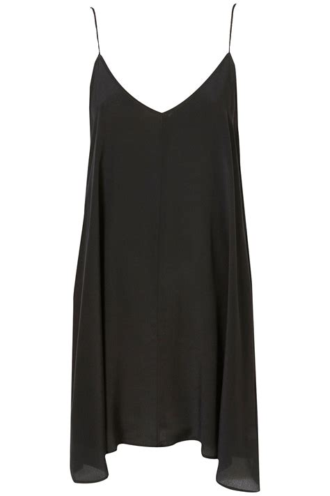 Topshop Swing V Slip Dress By Boutique In Black Lyst