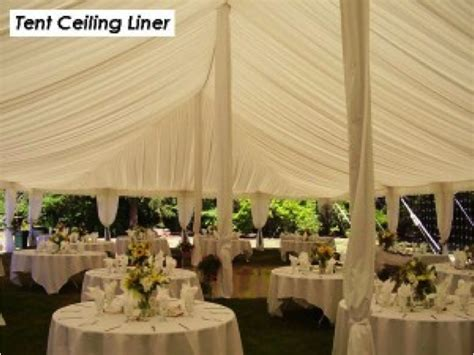 Ceiling Lining Products by Benson Ceiling Liner Benson Tent Rent Test