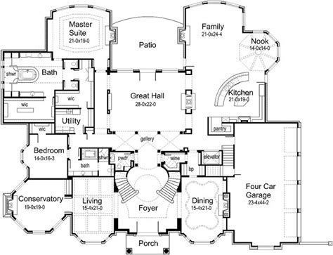 10 000 Sq Ft House Plans | luxury home plans 10000 square feet