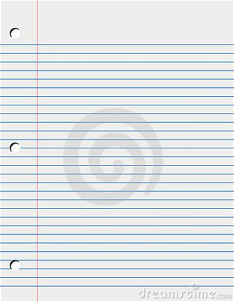sheet of loose leaf paper stock photos image 5858243