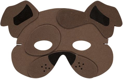 printable mask of a dog dog face mask
