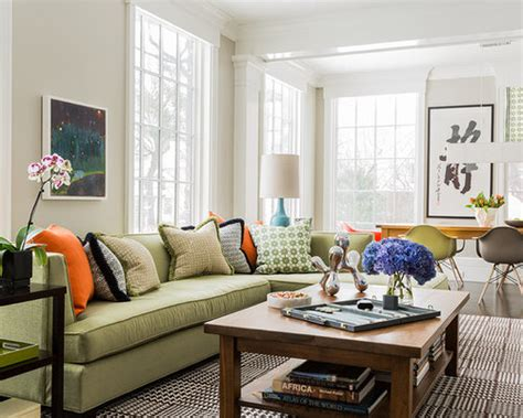 green couch home design ideas pictures remodel  decor