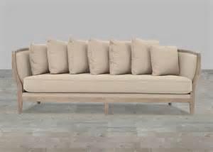 one cushion sofa one cushion sofa beige linen whitewash legs