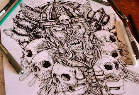 zombie viking work in progress by eg thefreak on deviantart