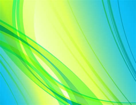 Yellow And Green Abstract Background