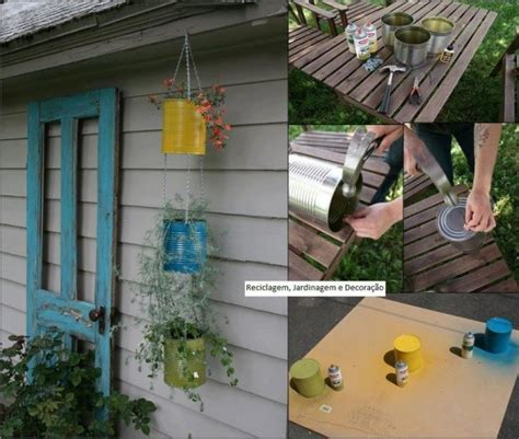 decorare giardino fai da te barattoli vasi